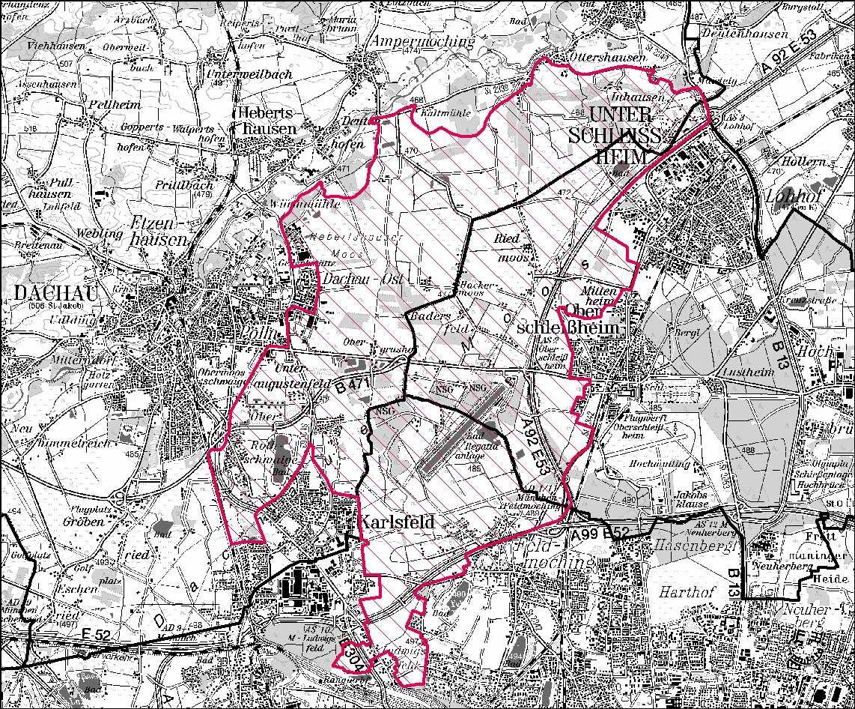 Projektgebiet: 54km²© Geobasisdaten Bayerische Vermessungsverwaltung